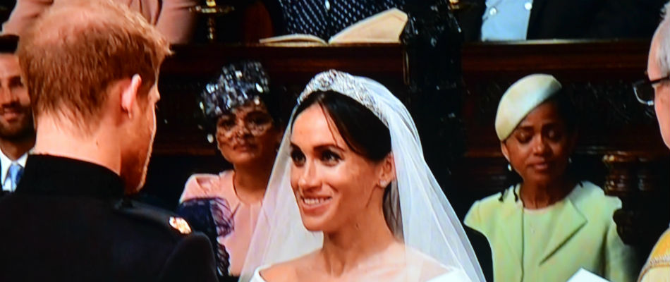 Prince Harry and Meghan Markle exchange vows in Blackest royal ...