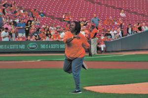 First pitch photo